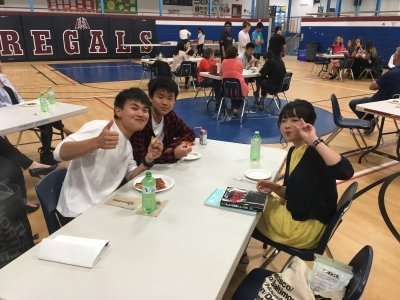International Students celebrate with end of year party!