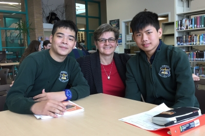 St. Benedict welcomes two new international students