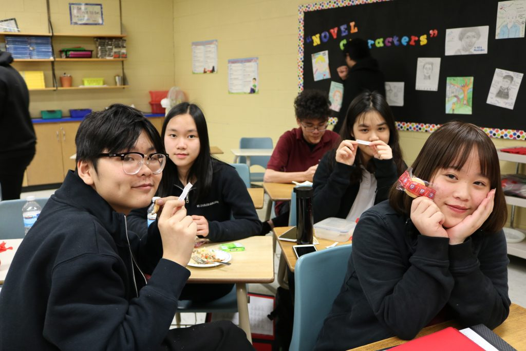 Staff and Students ring in the Chinese New Year at St. Charles College