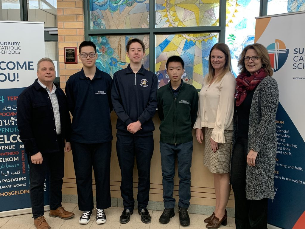 Sudbury Catholic Schools Welcomes Four New International Students for Second Semester